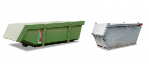 afzetcontainers naast elkaar